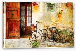 Charming street in Valdemossa village Stretched Canvas 80267939