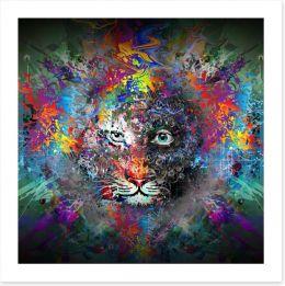 Tiger trance Art Print 80312992