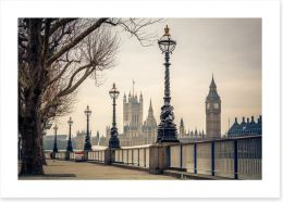 Along the River Thames Art Print 81420238