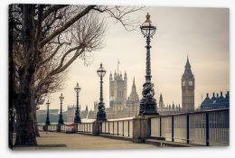 Along the River Thames Stretched Canvas 81420238