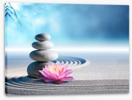 Lily and stones Stretched Canvas 81478947