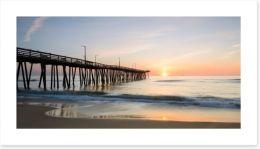 Sunrise over the pier Art Print 81610792