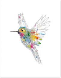 Rainbow honey-eater Art Print 82070042