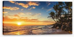 Palm tree paradise Stretched Canvas 82879029