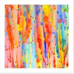 Rainbow drops Art Print 83175445