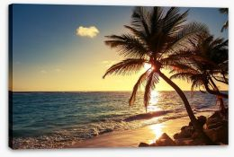 Tropical island sunset Stretched Canvas 83274893