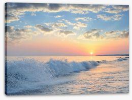 Seascape sunrise Stretched Canvas 83614145