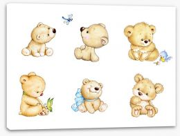Six little bears Stretched Canvas 84073053