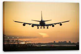 Sunrise landing Stretched Canvas 84132567