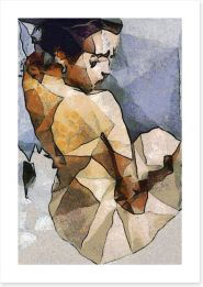 The seated woman Art Print 84561359