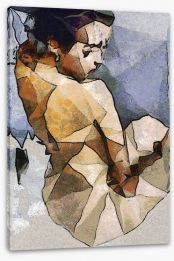 The seated woman Stretched Canvas 84561359