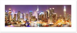 Twinkling Manhattan skyline Art Print 84613900