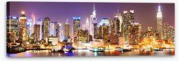Twinkling Manhattan skyline Stretched Canvas 84613900