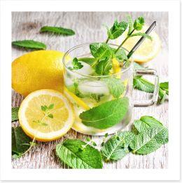 Lemon mint tea Art Print 84736841