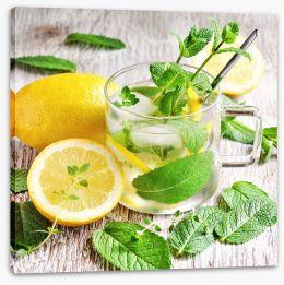 Lemon mint tea Stretched Canvas 84736841