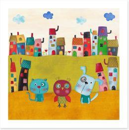 The animal town Art Print 85383890