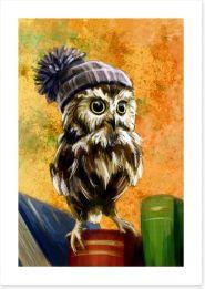 Bookish owl Art Print 85590047