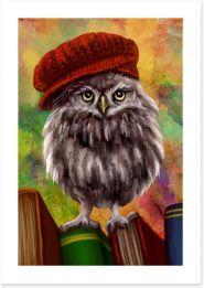 Bookish owl Art Print 85590287