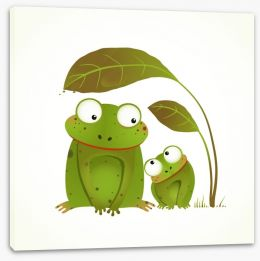 Happy Critters Stretched Canvas 85966112