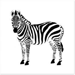 Minimalist zebra