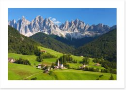 The magnificent Dolomites Art Print 86219880