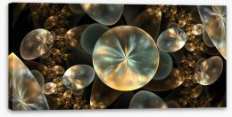Golden orbs Stretched Canvas 86232552