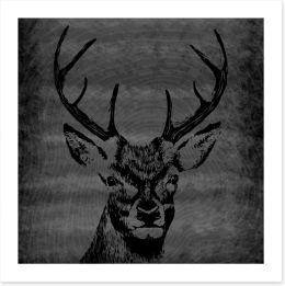 Deer silhouette Art Print 86758756