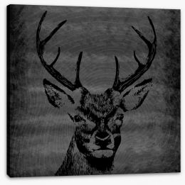 Deer silhouette Stretched Canvas 86758756