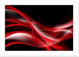 Waves of red Art Print 87077837