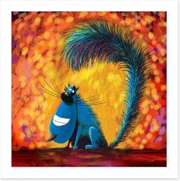 The smiling cat Art Print 87271933