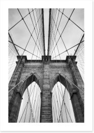 Timeless Brooklyn Bridge Art Print 87301340