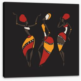 African Art Stretched Canvas 87936341