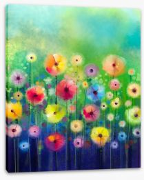 Bright sunny flowers Stretched Canvas 89017556