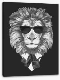 Suave lion Stretched Canvas 89534487