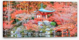 Kyoto temple in Autumn Stretched Canvas 89740919