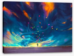 Balloons in the storm Stretched Canvas 90768625