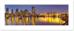 Vancouver skyline reflections