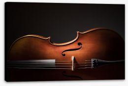 Cello silhouette Stretched Canvas 91569184
