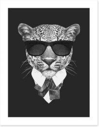 Suave leopard Art Print 91584838
