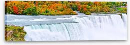 Niagara Falls in Autumn Stretched Canvas 91658489
