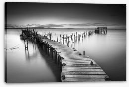 The old pier Stretched Canvas 91735833