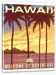 Retro Hawaii Stretched Canvas 91743863