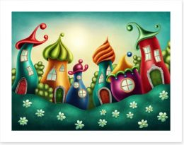 The fairy village Art Print 91826591