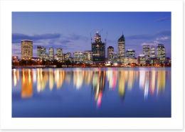 Perth skyline reflections Art Print 92066470