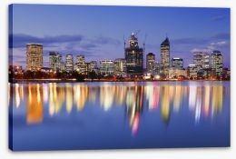 Perth skyline reflections Stretched Canvas 92066470