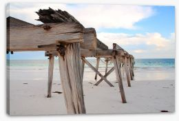 Jetty Stretched Canvas 92808338