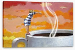 Need my morning coffee Stretched Canvas 93198503