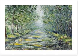 The path through the forest Art Print 93310626