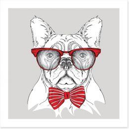 Red cravat bulldog