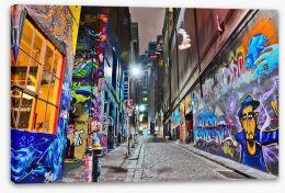 Hosier Lane in Melbourne Stretched Canvas 93625249